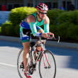 Frank Finney in the Coeur d' Alene Ironman cycling event — Stock Photo