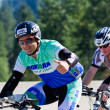 Gonzalo Armendariz in the Coeur d' Alene Ironman cycling event — Stock Photo