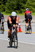 Ben Cotter in the Coeur d' Alene Ironman cycling event — Stock Photo