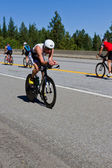 Christopher Legh in the Coeur d' Alene Ironman cycling event — Stock Photo