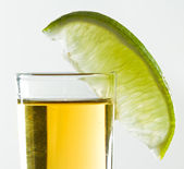 Lime and tequila — Stock Photo