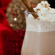Hot chocolate closeup — Stock Photo