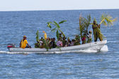 Garifuna settlement day — Stock Photo