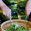 Stock Photo: Tossing salad