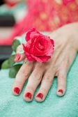 Manicure close up — Stock Photo
