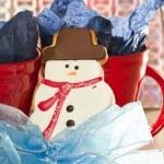 Snow man cookie — Stock Photo #38014065