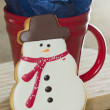 Snow man cookie — Stock Photo #38014103