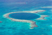 The great blue hole — Stock Photo