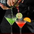 Bar tending — Stock Photo