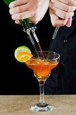 Pouring a margarita — Stock Photo