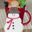 Snow man cookie — Stock Photo #40372001