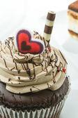 Chocolate cupcake — Stock Photo