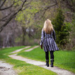 Walking alone — Stock Photo