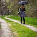 Walking alone — Stock Photo