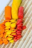 Sliced raw carrots — Stock Photo
