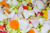 Sliced, mixed vegetables  — Stock Photo