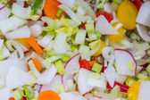 Sliced, mixed vegetables  — Foto Stock