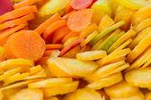 Cenoura cortada bakground — Foto Stock