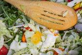 Mixing organic vegetables  — Stock Photo