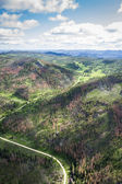 Aerial view of the black hills — Stock Photo