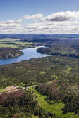 Aerial view of the black hills, Pactola Lake  — Stock Photo