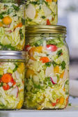 Home made cultured or fermented vegetables  — Zdjęcie stockowe