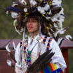 Native American performer — Stock Photo #49449819