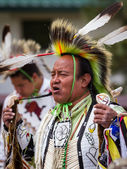 Native American performer — Foto de Stock