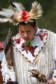 Native American performer — Stock Photo