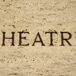 Stock Photo: Theatre sign