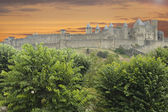 Carcassonne against dramatic sky — Stock Photo