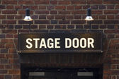 Stage door sign — Stock Photo