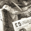 British currency — Stock Photo