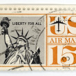 Stock Photo: Vintage postage stamp US Airmail