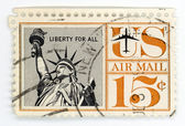 Vintage estampilla que nos correo aéreo — Foto de Stock
