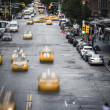 New York City yellow taxi street scene — Stock Photo
