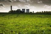 Green field dark power — Stock Photo