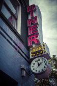 Vintage diner sign — Stock Photo