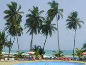 Luxury seafront hotel — Stock fotografie
