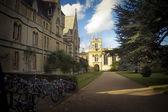 Student bikes at Oxford University — 图库照片
