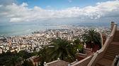 Coast of Haifa. View from the Bahai Gardens. Israel — Stock Photo