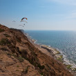 Paraglider over the Mediterranean sea, Israel . sea, Israel . — Stock Photo