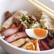 Chinese gourmet egg noodle — Stock Photo