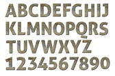 High quality scan of letterpress uppercase alphabets - A to Z. Nice Wood style. — Stock Photo