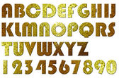 High quality scan of letterpress uppercase alphabets - A to Z. Nice retro glass style. — Stock Photo