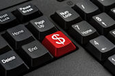 Keyboard - Red key Dollar sign  , business Concepts And Ideas — Stockfoto