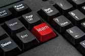 Keyboard - Red key Learn , business Concepts And Ideas — Stock Photo