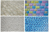 Texture Series -  Blue Mosaic Tiles , bricks,many colours bricks, Textured  Concrete — Stock Photo