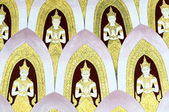 Thai Mural Painting on the wall, Wat Pho, Bangkok, Thailand — Stock Photo