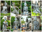 Statue at wat po bangkok:Generality in Thailand — Stock Photo